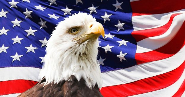Bald eagle in front of American Flag, TRICARE drug rehab, Foundations Wellness Center