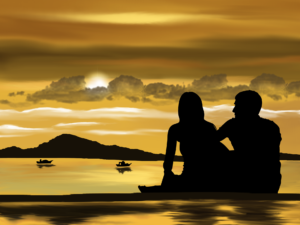 Couple in Silhouette Enjoying Beach View, Looking for a Tricare Drug Rehab, Foundations Wellness Center