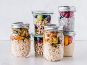 Meal Prep - Healthy Jars of Nutritious Food
