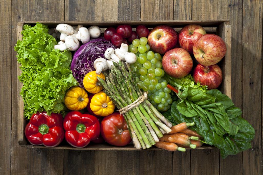 fruit and veggie arrangement - Foundations