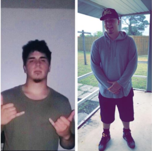 Jose, before and after rehab pic, Foundations Wellness Center