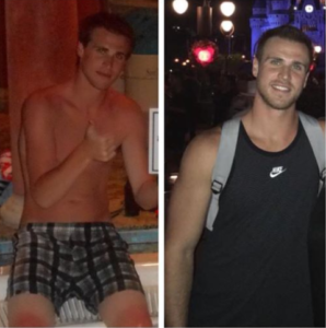 Steve, before and after drug and alcohol rehab pic, Foundations Wellness Center