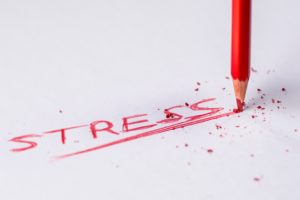 stress written in red pencil, relapse prevention, Foundations Wellness Center