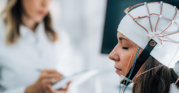 Woman getting brain mapping test, what is brain mapping, Foundations Wellness Center