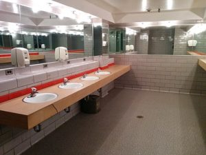 mens restroom, former alcoholic and drug addict son shares his son, Foundations Wellness Center