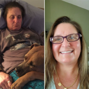 Christy, before and after